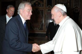 Christian Cambon et le Pape Francois