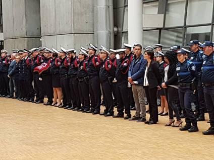 Christian Cambon - Créteil pour l'hommage départemental aux policiers morts en service