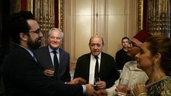 Christian Cambon - Jean Yves Le Drian - Chakib Benmoussa