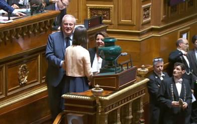 Christia Cambon - election du Président Gerard Larcher