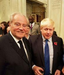 Christian Cambon et Boris Johnson