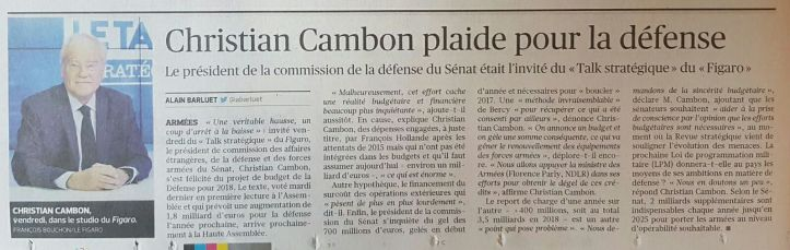 Christian Cambon - Le figaro - Defense