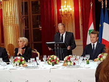 Christian Cambon - Michel Aoun, President de la Republique libanaise