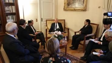 Christian Cambon - Takht Ravanchi Vice-Ministre des Affaires etrangeres de la Republique d'Iran