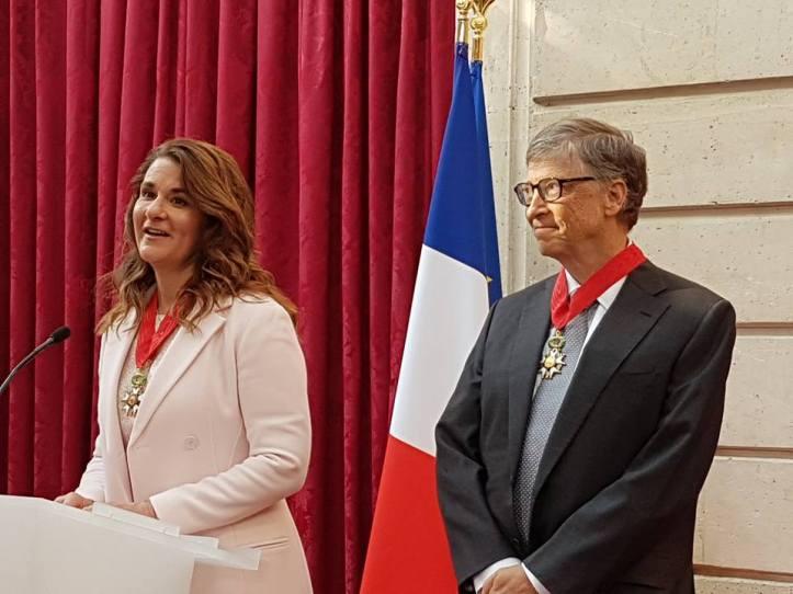 Christian Cambon - Bill Gates et Mélinda - Elysee 2