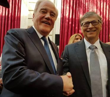 Christian Cambon - Bill Gates et Mélinda - Elysee
