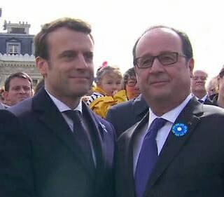 Christian Cambon - Emmanuel Marcron - francois Hollande - 8 mai