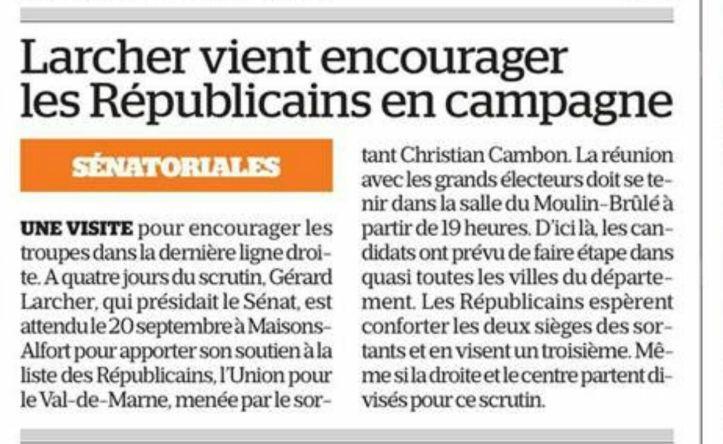 Christian Cambon - Gerard Larcher - meeting senatoriales