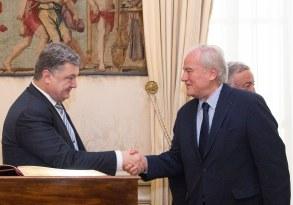 Christian Cambon - Gerard Larcher - Président d'Ukraine, Petro Porochenko 2