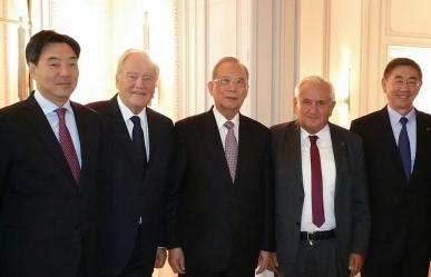 christian cambon Jean-Pierre Raffarin, le Vice-Premier Ministre chinois M. Zeng Peiyan