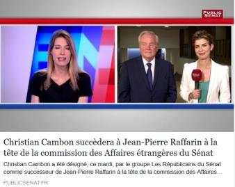 Christian Cambon - Jean Pierre Raffarin - Public Senat