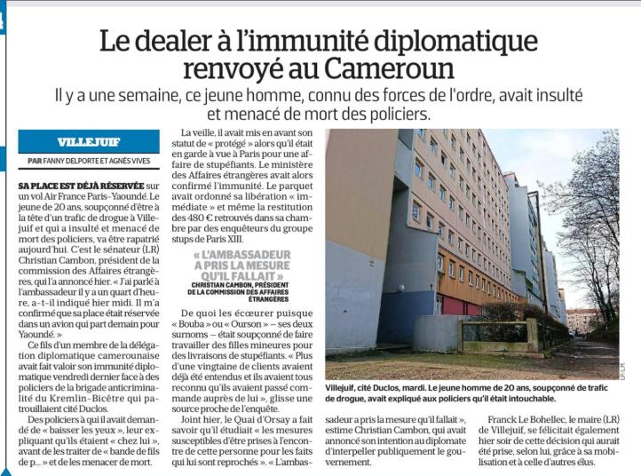 Christian Cambon - Le Parisien - 22-12-2017