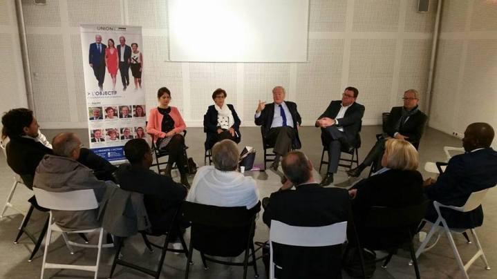 Christian Cambon - réunion des sénatoriales - Franck Le Bohellec à Villejuif