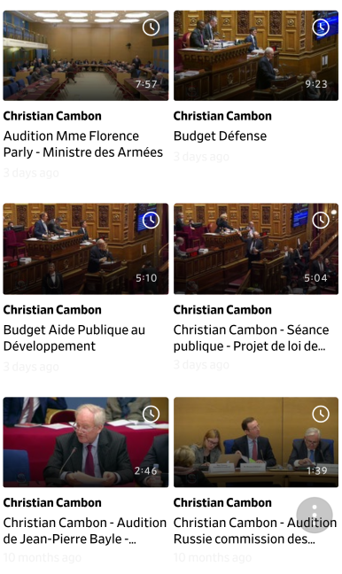 Christian Cambon - videotheque