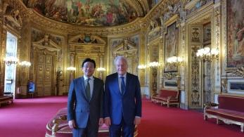 Christian Cambon - Jong-moon CHOI amabassadeur de Corée en France
