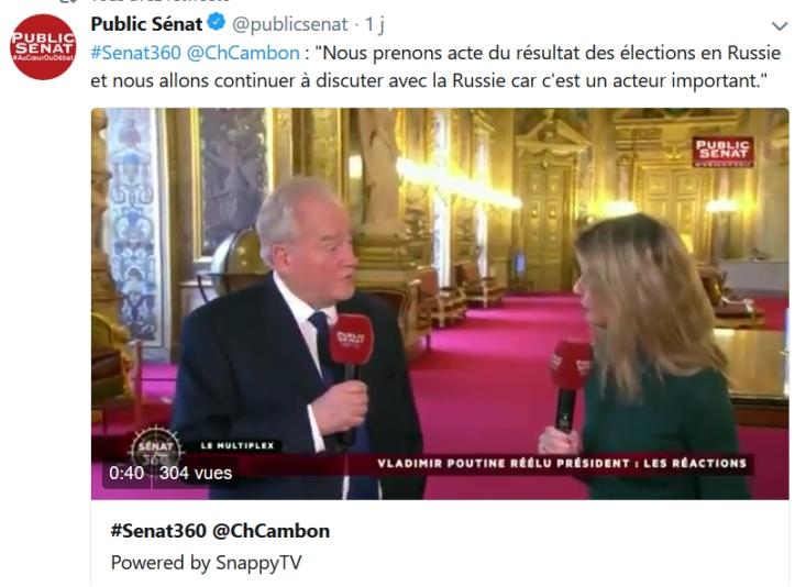 Christian Cambon - Vladimir Poutine Russie