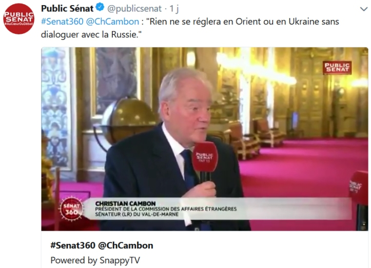 Christian Cambon - Vladimir Poutine
