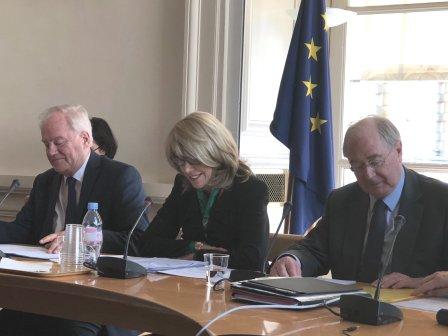 Christian Cambon - Patricia O'Brien Ambassadeur d'Irlande en France