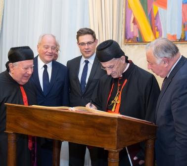 Christian Cambon - Béatitude Béchara Boutros Raï, Patriarche Maronite d'Antioche et de tout l'Orient