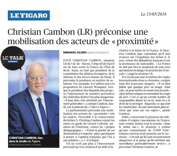 Christian Cambon - Le Figaro - 15-05-2018