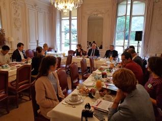 Christian Cambon - Conference de presse route de la soie
