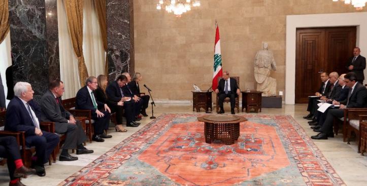 1-Christian Cambon - président de la République Michel Aoun - Liban