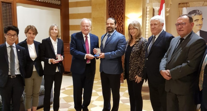 Christian Cambon - Saad Hariri au Liban