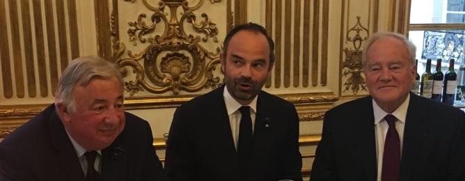 Gerard Larcher- edouard Philippe - Christian Cambon