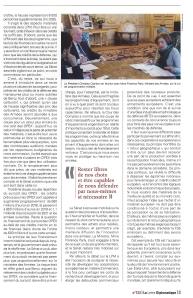 2 - La Lettre Diplomatique - nov 2018 - Christian Cambon