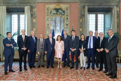 Visita di una delegazione parlamentare del Gruppo d'Amicizia Francia-Italia del Senato francese