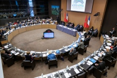13/12/2019: Ouverture du 4ème Forum parlementaire France-Maroc MM. les Président Richard Ferrand, Gérard Larcher, MM.Habib El Malki, M. Abdessamad Kayouh