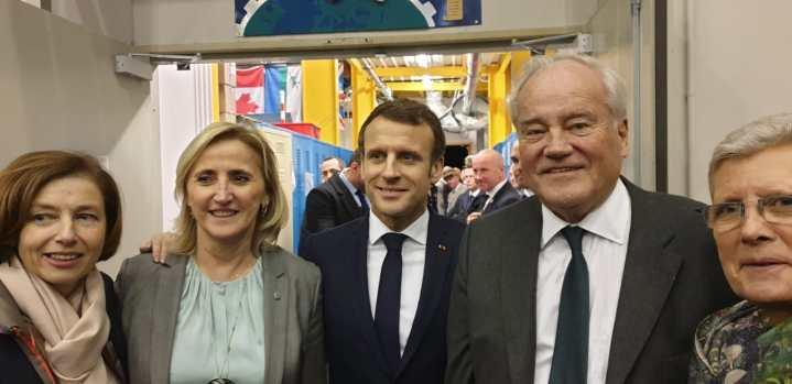 Christian Cambon - Emmanuel Macron - Florence Parly