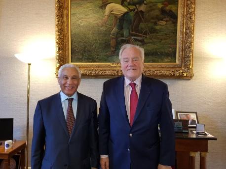 Cj=hristian Cambon - S.E. M. Salah Leddioui, Ambassadeur d'Algerie