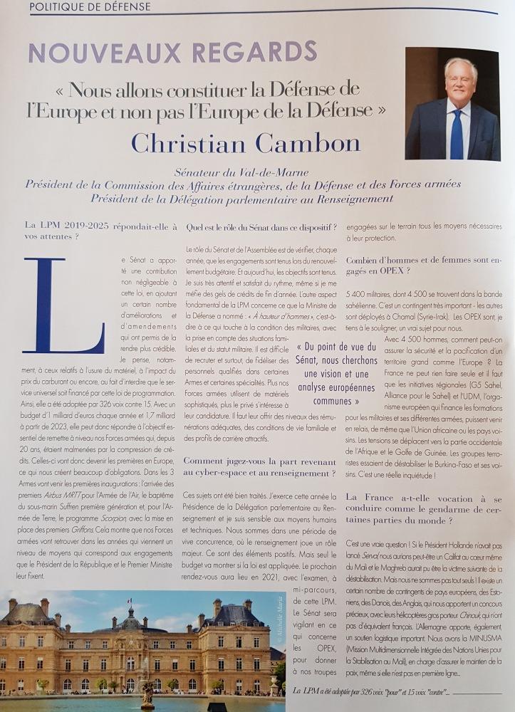 Christian Cambon - - journal du Parlement