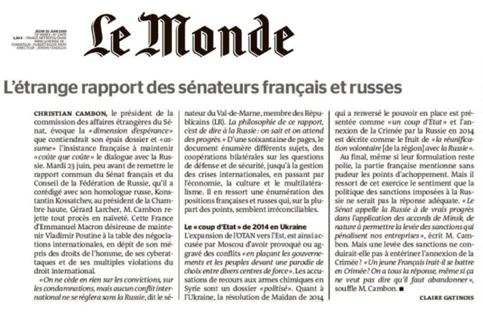 Christian Cambon - L Monde 24-06-2020
